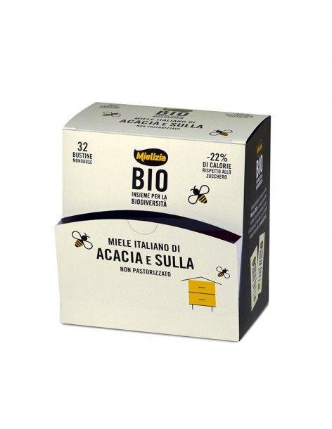 Miele biologico di Acacia e Sulla 32 Bustine 5g