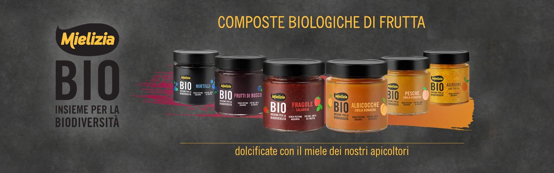Composte di frutta biologica con miele italiano - Acquista Mielizia online